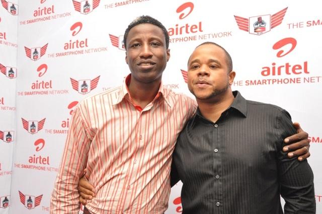 Head, Youth Segment, Airtel Nigeria, Segun Aderinokun with MD, Trace Music TV, Nigeria, Sam Onyemelukwe at the event