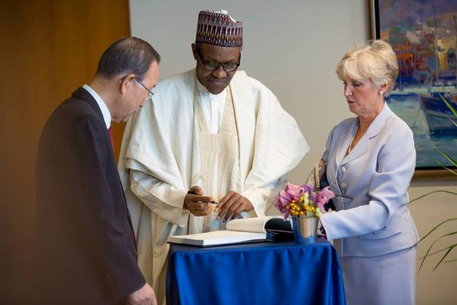 PMB AND UN SECRETARY, MR BAN KI MOON DURING A BILATERAL MEETING1