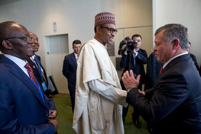 President Buhari in a billateral meeting with His Majesty, King Abdullah II lbn Al Hussein, King of the Hashemite Kingdom of Jordan3