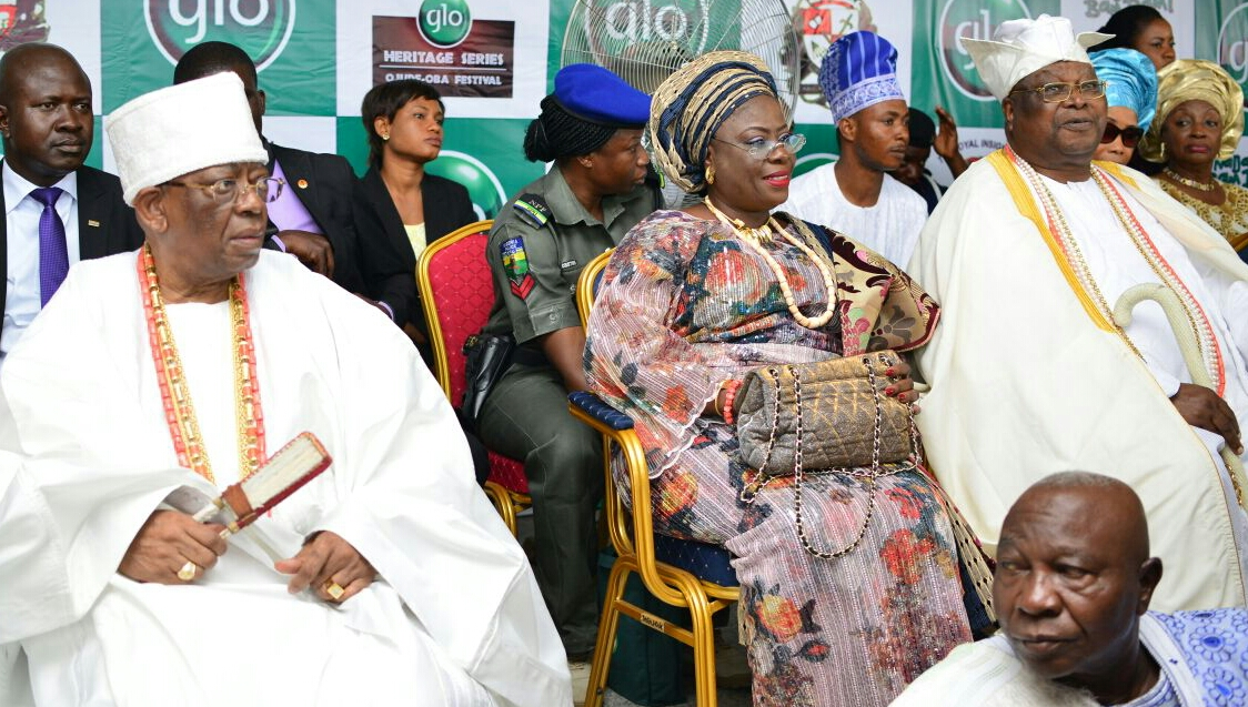 L-R: The Founder of First City Monument Bank (FCMB), Otunba Olasubomi Balogun; the Deputy Governor of Ogun state, Mrs. Yetunde Onanuga and the Awujale of Ijebuland, Oba Sikiru Adetona, during the Ojude Oba Festival held at Ijebu Ode in Ogun State on Saturday.