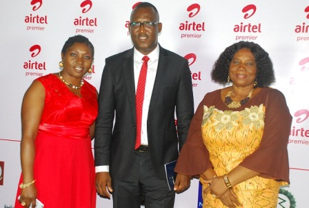 L-R: Veronica Onoja, Regional Operations Director, South region, Airtel Nigeria; Godfrey Efeurohbo, Chief Sales Officer, Airtel Nigeria and Mrs. Julia Jumbo, Permanent Secretary, Ministry of Women's Affairs, Rivers state representing Hon. Justice Eberechi Wike, First Lady, Rivers state at the Airtel Premier customer forum held in Port Harcourt….recently