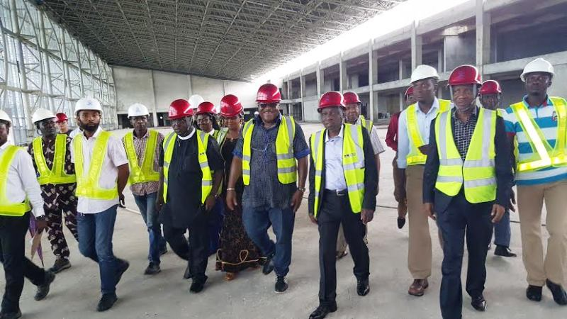 Engineer Saleh Dunoma, Managing Director of the Federal Airports Authority of Nigeria (FAAN) during a working visit to the Port Harcourt International Airport terminal  on Wednesday