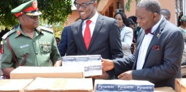 Guinness Nigeria donates drugs to NYSC Health Initiative for Rural dwellers (PHOTO)