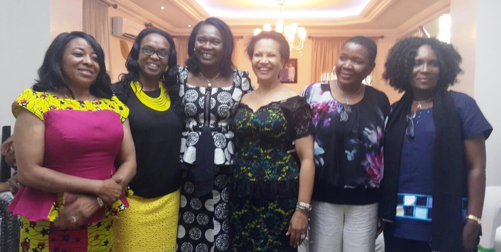 L-R: Chief (Mrs.) Victoria Ekhomu, Ikeolu Biobaku, Uwa Osa-Oboh, Nike Ogunlesi, Nkechi Obi and Augustina Okwu, all ladies of Lagos Business School AMP 12 class at the meeting and get together party/election for the group...recently