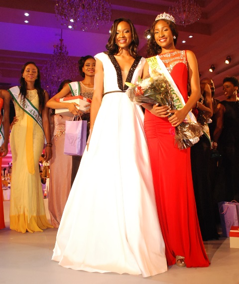 Ex-Miss Nigeria 2014, Ezinne Akudo With The Winner of Miss  Nigeria 2015,Pamela Peter-Vigboro Leesi