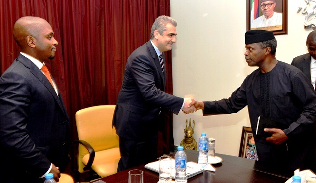 Microsoft Nigerian team visits Osinbajo (PHOTO)