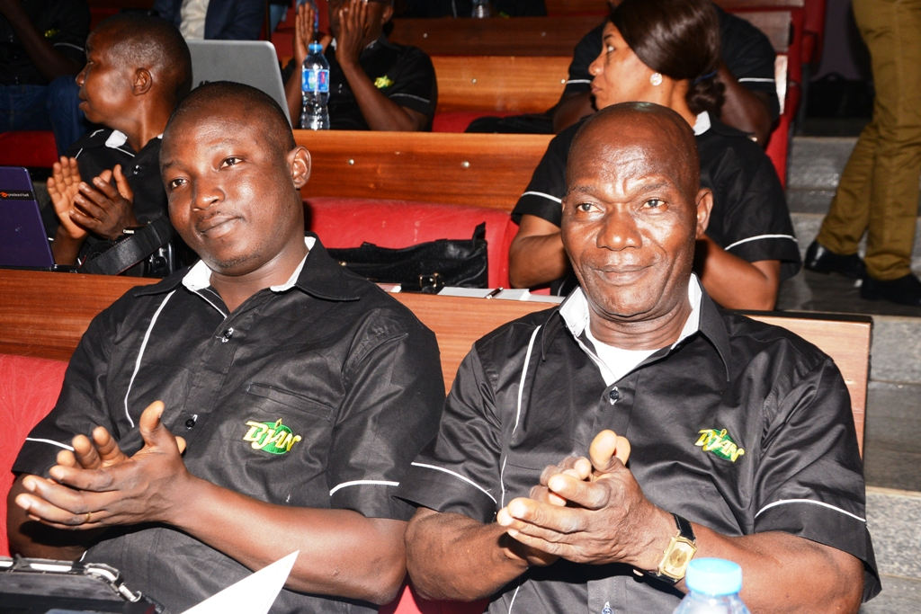 Kayode Adelowokan, Managing Editor, NEWSVERGE, and Fadare Adekanbi, at the event