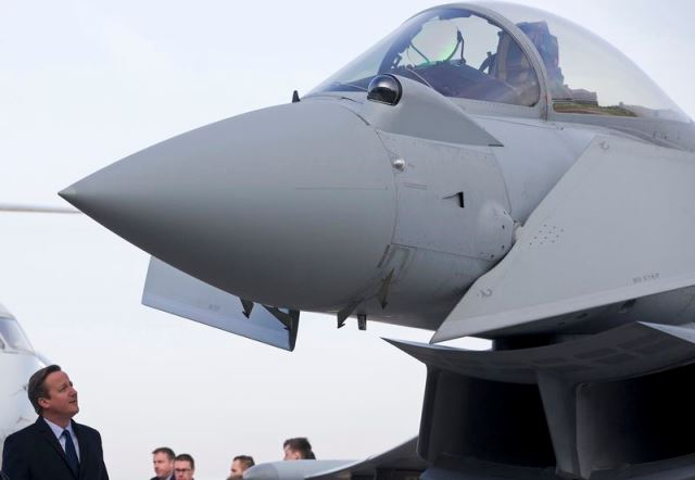 French war jets strike ISIS as Britain offers support