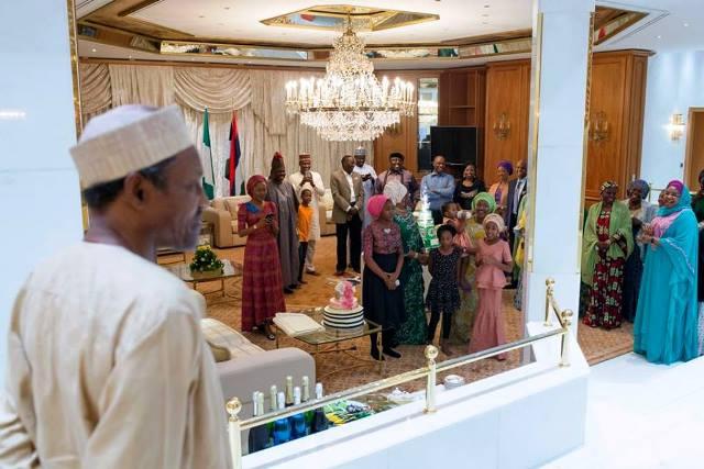 Buhari gets surprise birthday bash (PHOTO)