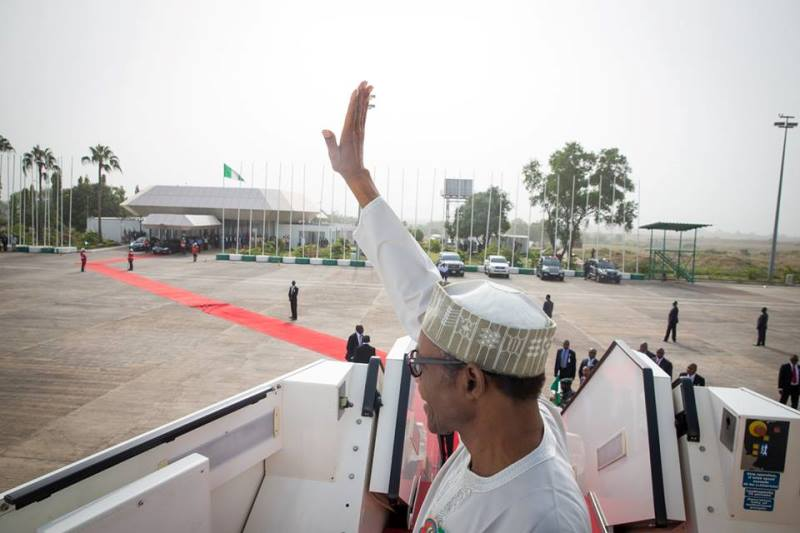 China-Africa forum: Buhari arrives S'Africa with 84 delegates