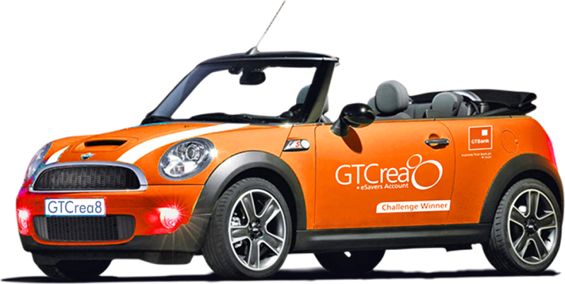 GTBank to Reward GTCrea8 customers with Mini Cooper Car Wednesday