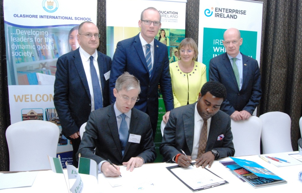 Olashore, Ireland institute sign MoU on Pre-Medical Programme