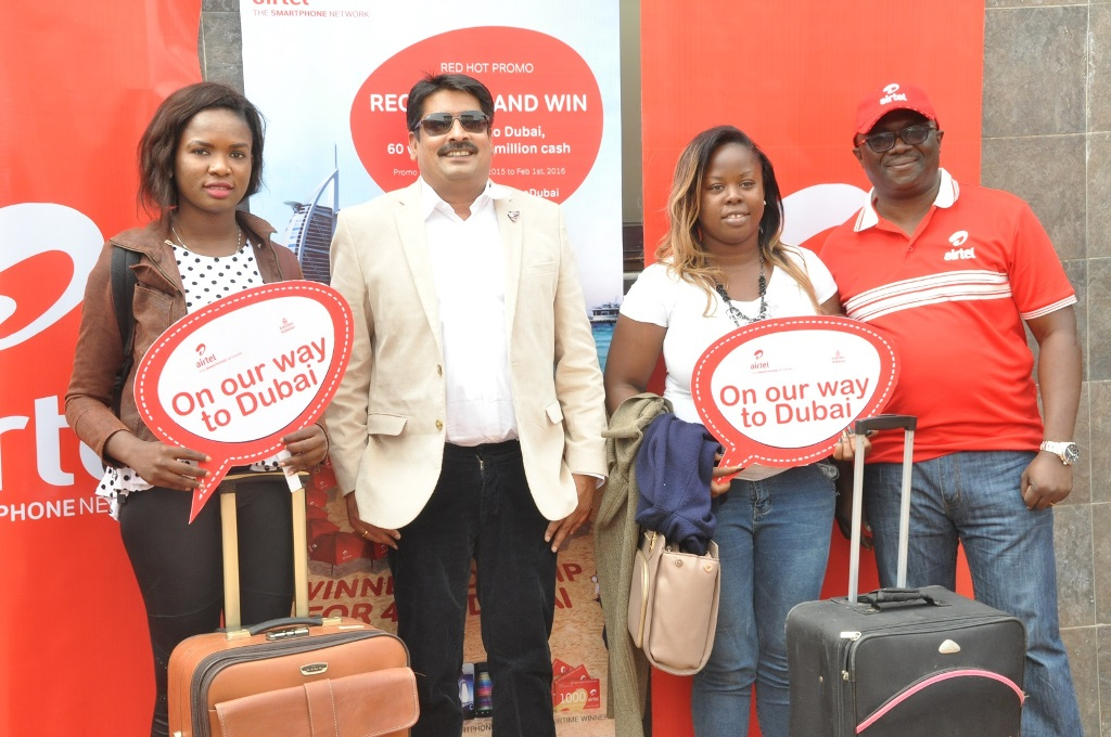 Aitel's Red Hot winners depart for Dubai with friends, family + pictures