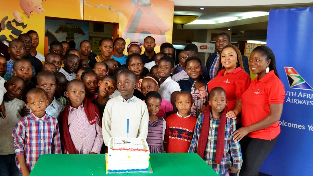 South African Airways hosts orphans to movie treat at Cinemas