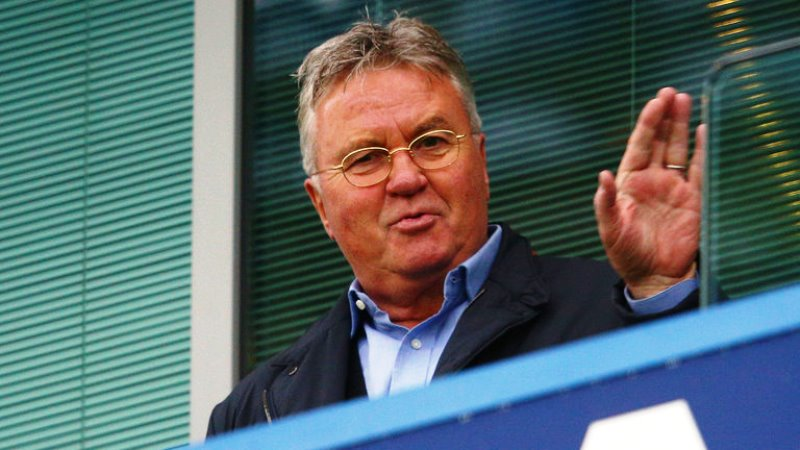 The experienced Dutch coach, 69, watched Chelsea's 3-1 win over Sunderland on Saturday, having resumed a role he previously performed in 2009, when he led the London club to glory in the FA Cup