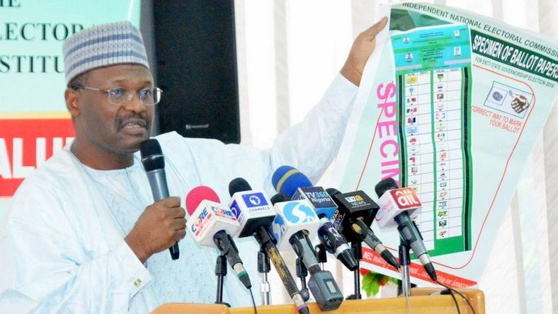 INEC releases final list of candidates for state elections