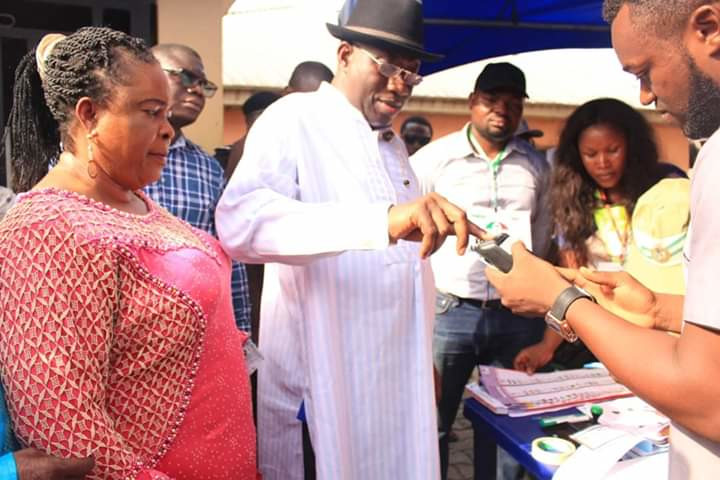 Ex-President Jonathan, wife, vote in Otuoke