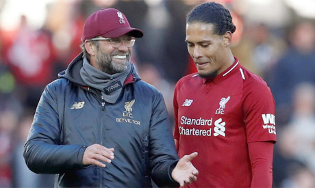 Passionate Klopp gets straight to the point, Liverpool's Van Dijk says