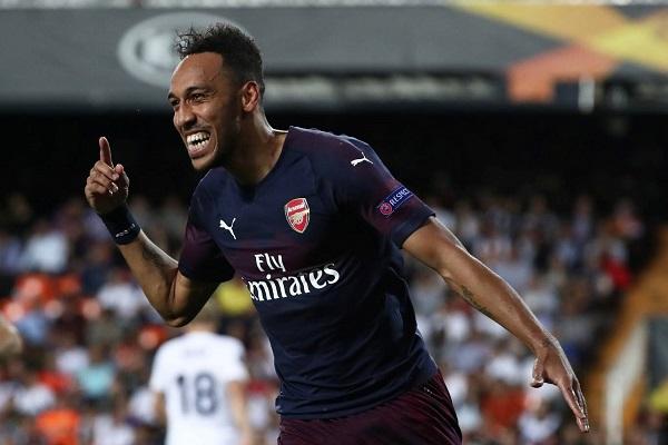 Aubameyang's hat-trick sends Arsenal into Europa League final