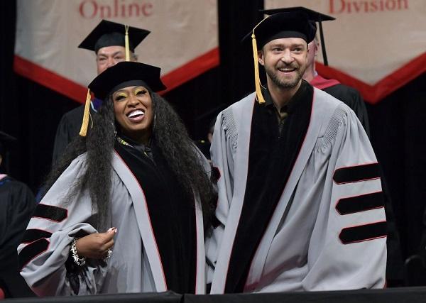 Justin Timberlake, Missy Elliott receive honorary doctorate degrees
